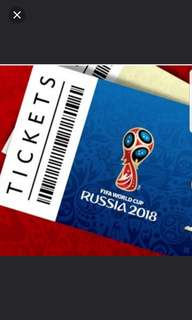Fifa World cup 2018 ticket