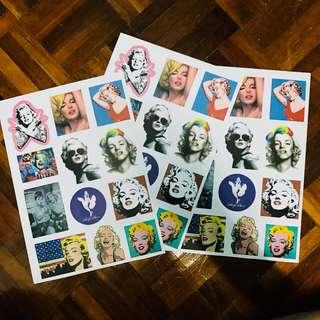 A4 size Marilyn Monroe Sticker