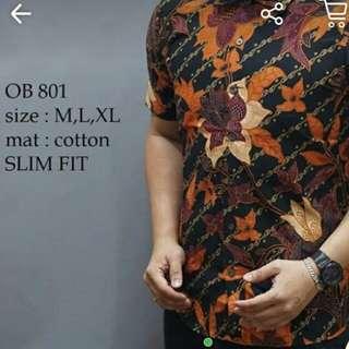 Kemeja Batik Pria Slim Fit XL (fit to L)