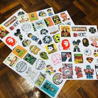 A4 size Mix Item Sticker