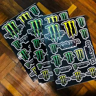 A4 size Monster Sticker