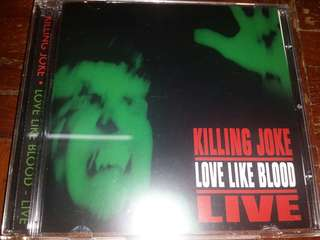 Music CD: Killing Joke ‎– Love Like Blood - Live