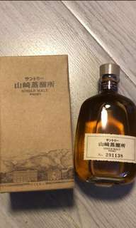 已絕版,山崎蒸餾所出品,山崎 Whisky300ml with box.