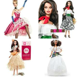Looking for those 4 Barbie of the world doll