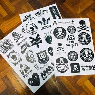 A4 size B&W Brand Sticker