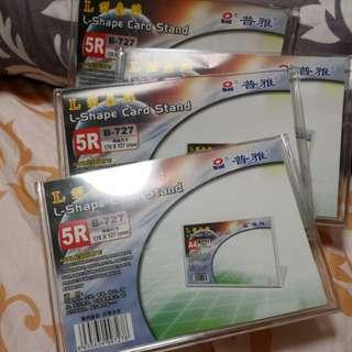 L shape card stand 5R (4pcs)