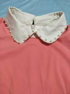 Cute coral collar dress