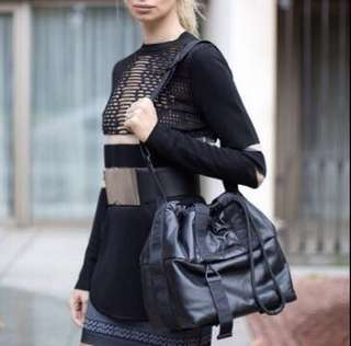 Alexander Wang x H&M crossover leather bag 限量真皮袋