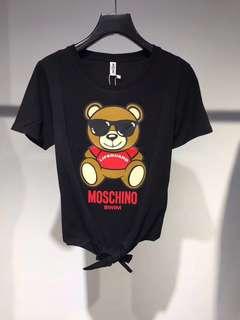 Moschino T- Shirt 黑色 Size:M(有包裝,有衫牌)歐洲百貨公司職員價 直購正版正貨