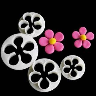 ▪4件組▪玫瑰花翻糖壓模/花型翻糖模具/糖花工具