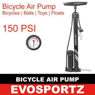 Bicycle Air Pump (150 PSI Pressure Gauge)