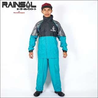 Jas Hujan Rainsol Ventilator Batik & Furing 2 Colours Tosca
