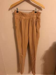 Wilfred Camel High Waisted Pants