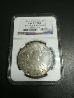 1803 西班牙銀幣(利馬)unc detail