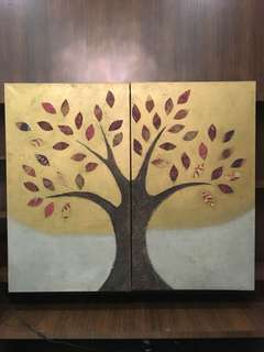 """Canvas Painting """"Tree of Union""""day"""