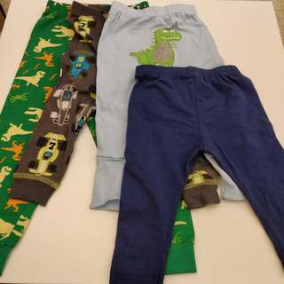 4 pcs baby long pants (Australian brands)