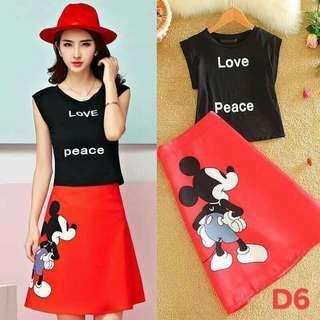 Mickey mouse skirt terno