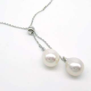 925 silver with fresh water pearls adjustable necklace 925純銀淡水珠頸鏈