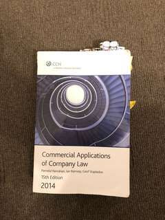 Commercial Applications of company law 15th edition 2014