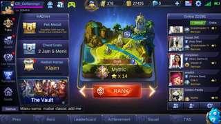 Akun utama Mobile Legends mythic bosen main
