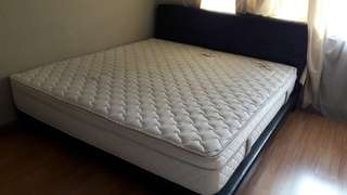 King size bed with latex mattress