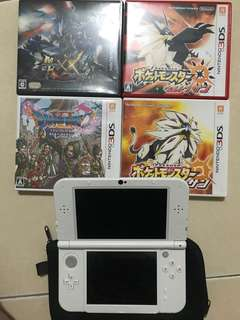 Nitendo 3DS LL + 4 Games