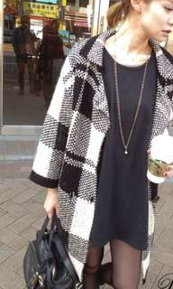 🚚 格紋針織外套