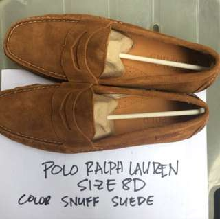 POLO Ralph Lauren Brown Suede Loafers Size 8D
