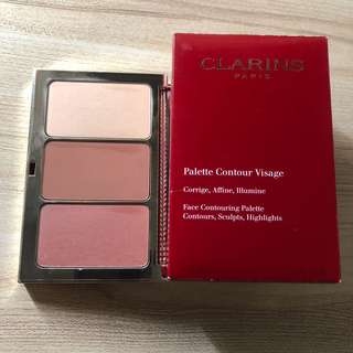 Clarins face contouring palette