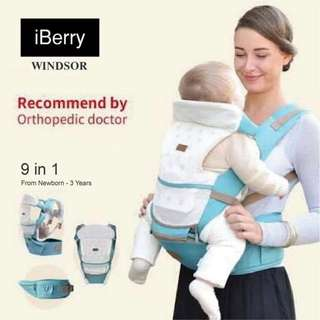 NEW - iBerry Hipseat Carrier Sky Blue