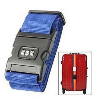 Luggage belt strap with number lock