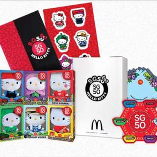 Mcdonald's SG50 Hello Kitty plush collectibles