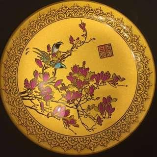 高級擺設連木架-Justgold x Hang Seng (富貴吉祥玻璃擺件)