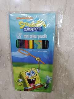 Spongebob 8 mini color pencils