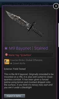 CSGO KNIFE M9 Bayonet