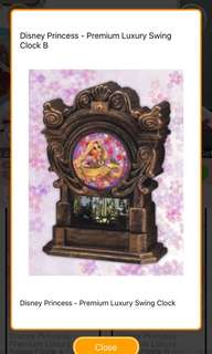 Disney Princess - Premium Luxury Swing clock