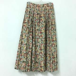 Vintage 日本製復古古著百摺碎花裙