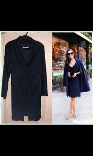 Navy Blue Satin Coat