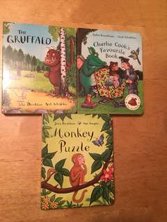 Julia Donaldson's 3 Board Books