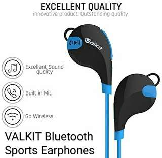 Valkit Bluetooth Wireless Earbuds, Bluetooth Headset, Valkit Top Best Headphones Noise Reduction Mic & Neckband Runnning Sports In Ear Work Out Earphone Stereo Headset For iPhone Samsung Huawei smartphones etc.