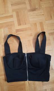 Black crop top size S