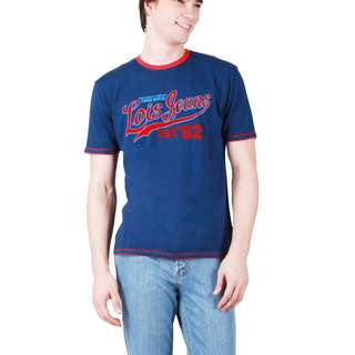 Lois Jeans Short Sleeves Navy Blue T-Shirt