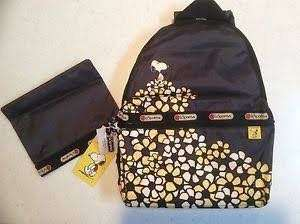 Authentic Lesportsac Snoopy Daisy Backpack (Limited Edition)