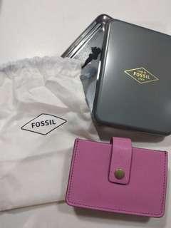 Fossil wallet cardholder mini tab wild rose 咭片套 卡片套