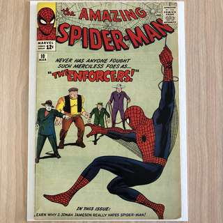 MARVEL COMICS The Amazing Spider-Man #10-1st Appearance of the Big Man & the Enforcers (Serious Buyers Only)