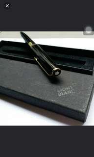 全新,Mont Blanc Classic 黑色原子筆