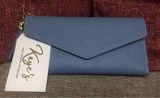 Hannah wallets ( blue & dark old rose color )