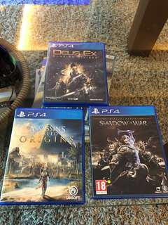 PS4 Games - Shadow of War, Deus Ex