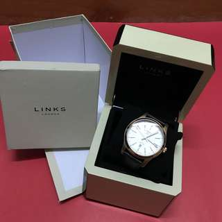Links of London Mens Brown Leather Watch 男士真皮手錶
