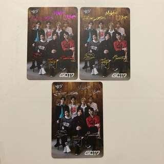 GOT7 Yes! Card 第36期 彩金銀 簽卡